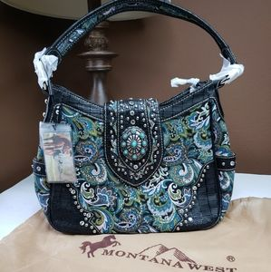 Montana West Buckle/Concho shoulder Collection Bag